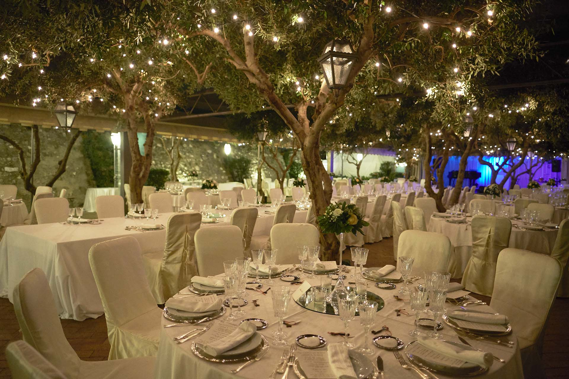 Matrimonio Sire Ricevimenti Allestimenti floreali, mise en place, buffet