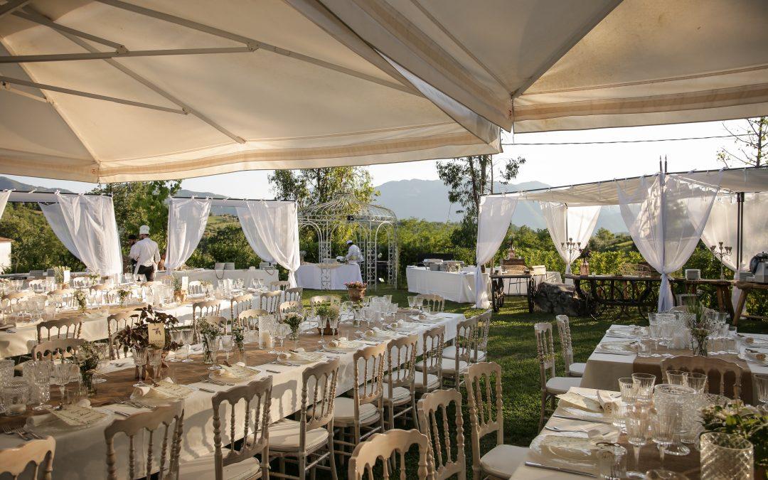 Matrimonio shabby chic a Valle dell'Aquila: un evento romantico e suggestivo